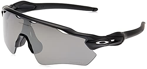 Oakley Men's OO9208 Radar EV Path Shield Sunglasses, Matte Black/Prizm Black Polarized, 38 mm