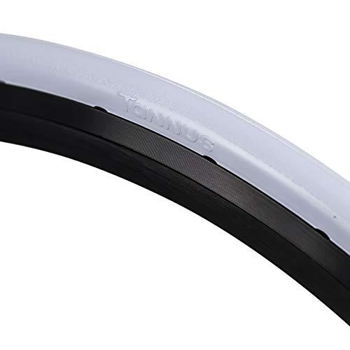 Tannus Tire 700x23c (23-622) Reifen Slick | 100% Pannensicherer Straßenrad Reifen, Farbe Cotton (Weiss), Härte Regular