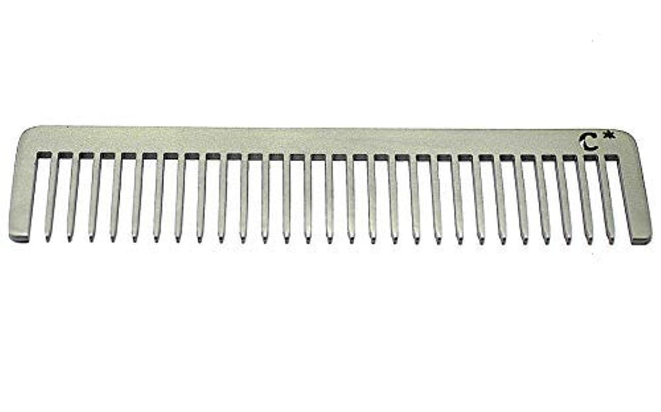彼女の保存一般化するChicago Comb Long Model 5 Standard, Made in USA, Stainless Steel, Wide Tooth, Rake Comb, Anti-Static, Ultra-Smooth, Strong, Durable, 5.5 in. (14 cm), Ultimate Daily Use Comb, Men & Women [並行輸入品]