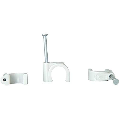 Kopp 342704080 Iso-Schellen 7-11 mm, mit gestifteten Stahlnadeln 30 mm, 50 Stück, grau