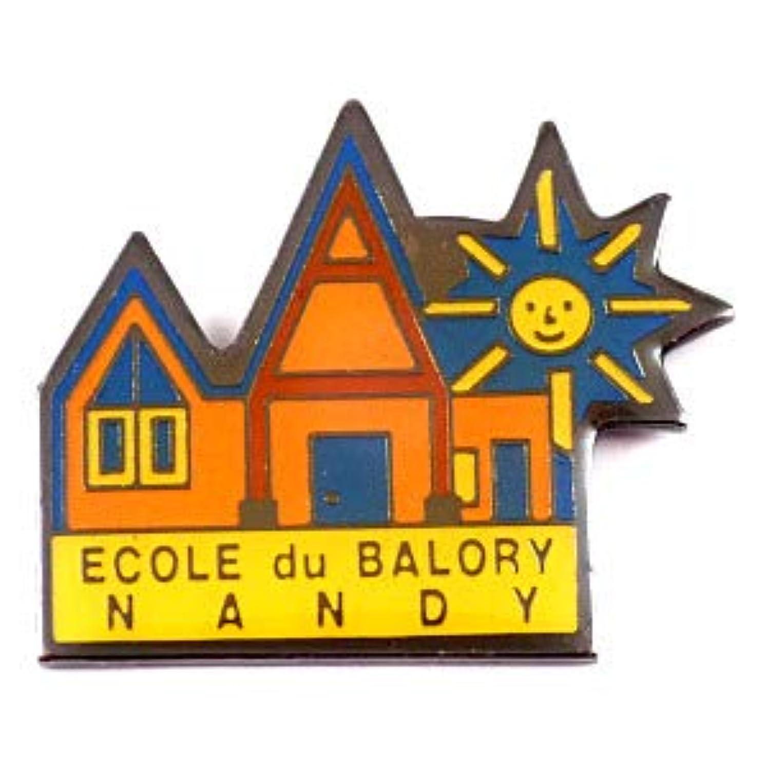 マントオペレーター誘う限定 レア ピンバッジ 学校の校舎と太陽 ピンズ フランス 288951