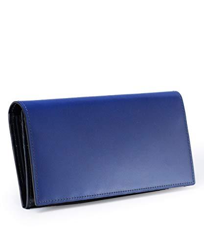 [フジタカ] コードバン 長財布 コードバン カード段25 ステイン財布 No.633605 ブルー
