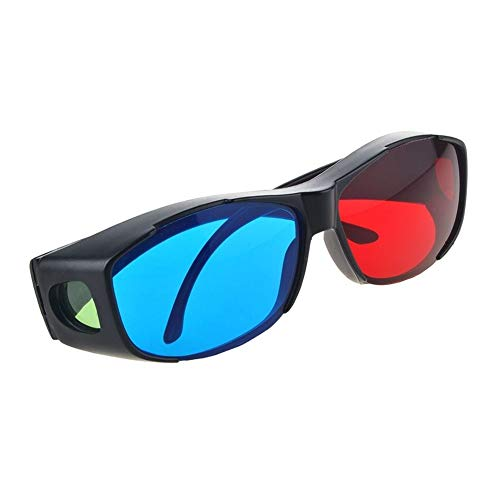 3D Glasses 2pcs Virtual TV Movie Dimensional Anaglyph Game Cinema Universal sy Wear Frame Ultra Clear hion DVD Vision Red ue