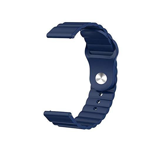 PZZZHF Tierra de Silicona de 20 mm para Samsung Galaxy Watch Active 2 para Huawei Watch GT 2 para Honor Magic Watch 2 Amazfit BIP GTS GTR Gear Sport Band