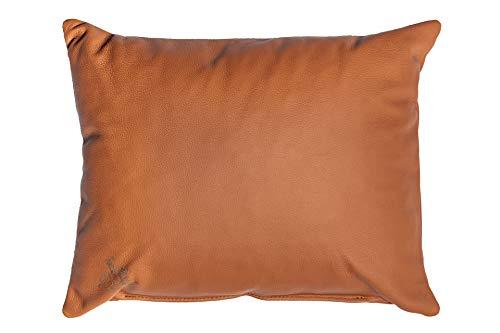 Centaur - Deko Lederkissen 50 x 40 cm für Sofa oder Schlafzimmer Cognac - Echt Leder Kissen Echtleder Sofakissen Lederoptik