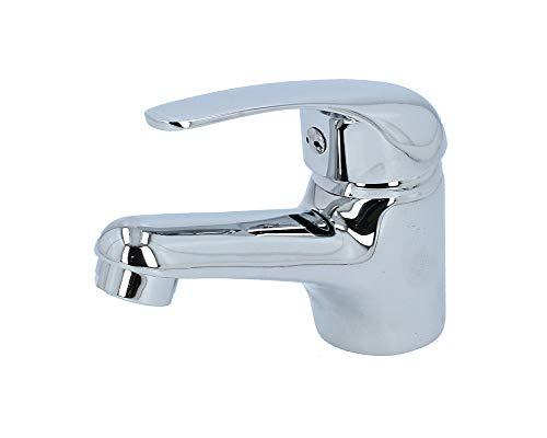 VBChome Waschtisch Armatur verchromt Strahlregler Sehr Klein Keramikkartusche Badarmatur Hochdruck-Armatur Einhebel Einhebelmischer Waschbecken-Armatur