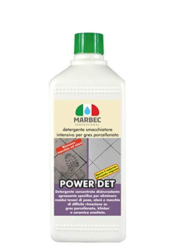 Marbec - Power DET 1LT | Detergente smacchiatore intensivo per gres porcellanato
