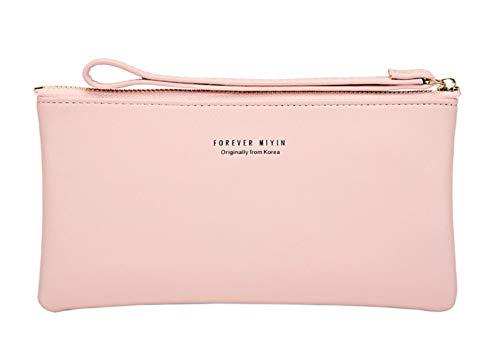 Touch Screen Phone Case Wristlet Handbag for Women Girls (1 Bag, F3- Light Pink)