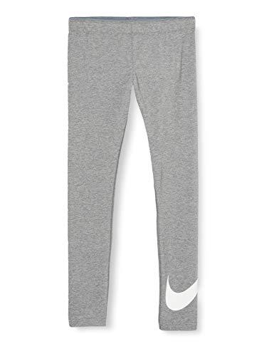Nike Mädchen Sportswear Favorites Leggings, Carbon Heather/White, XL