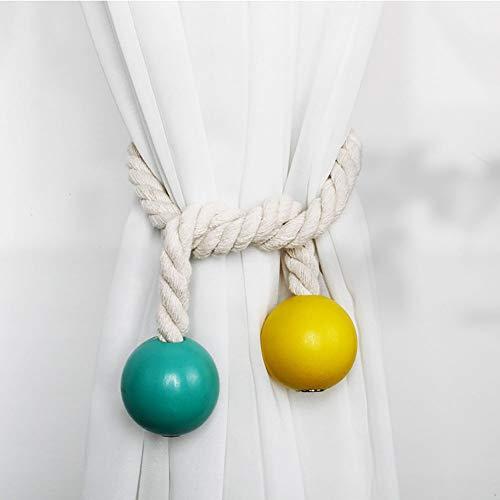Paquete de 2 corbatas para cortinas y persianas, soporte de cortina de moda, cintas decorativas para cortinas, clips, hebilla de cortina, los soportes de cortina más convenientes(Tipo-12)