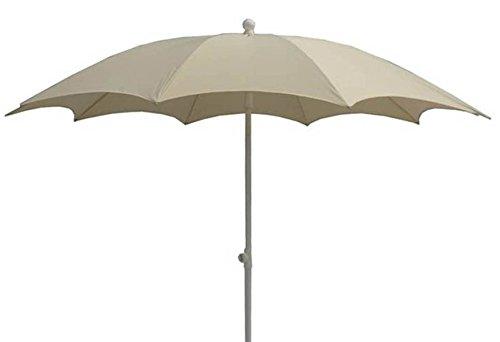 PEGANE Parasol centré en Polyester Coloris écru - Dim : 140/10 – D 280 cm