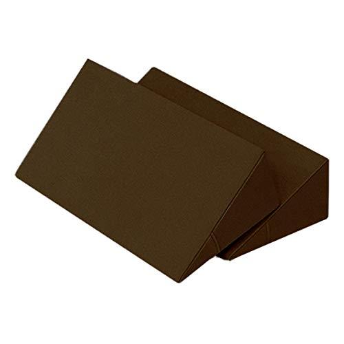 体位変換クッション 2個セット 日本製 綿100% 洗濯可能 床ずれ防止クッション 三角クッション 床ずれ クッション 体位変換 クッション 枕 体位変換枕 三角まくら 床ずれ予防 リハビリ 介護用クッション 7-TB-77-69-F (ブラウン)