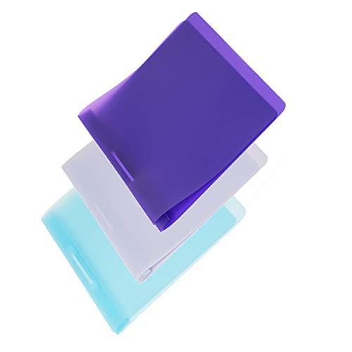 FLVG 3 A4 Schnellhefter, Farben: hellblau, lila, helllila, von hinten abheftbar