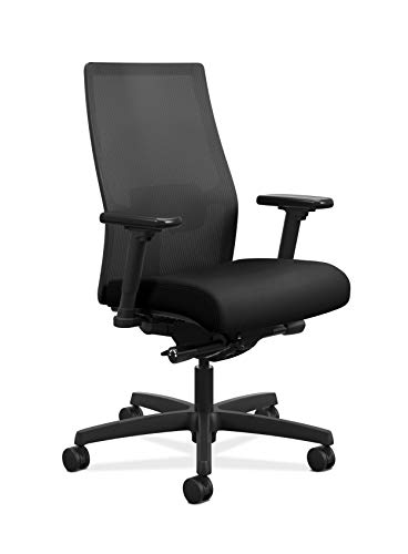 HON Ignition 2.0 Mid-Back Adjustable Lumbar Work Mesh Computer Chair for...
