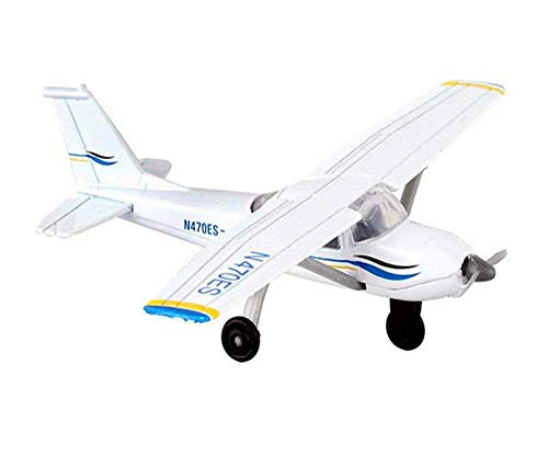 Runway24 RW065 Cessna 172 2000 Skyhawk White Blue 1:87 Scale Diecast with Runway