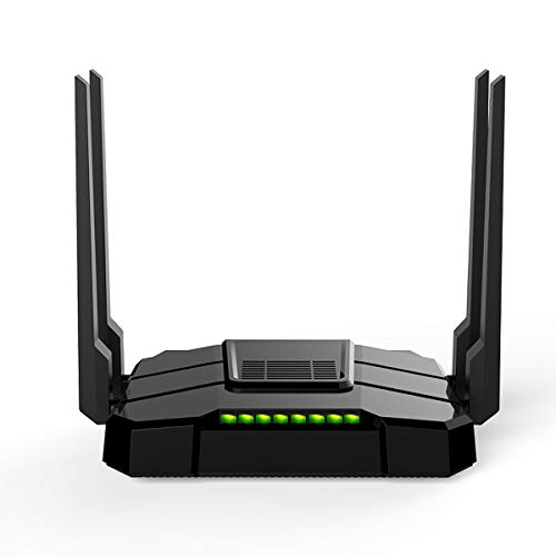 【Newest 2021】 Smart WiFi Router High Speed Gigabit Dual Band 2.4GHz and 5GHz AC1200 Wireless Router for Home and Gaming Coverage up to 3500 sq.ft and 40 Plus Devices