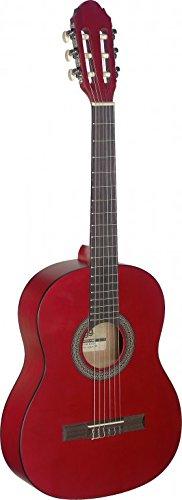 Stagg C4303/4Größe Name Klassische Gitarre–Schwarz 3/4 rot
