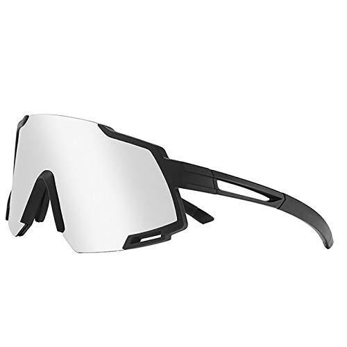 Gafas a Prueba de Viento Que se Ajustan a Las Gafas, Gafas de Sol Deportivas de Ciclismo con 4 Lentes Intercambiables para Hombres y Mujeres,05