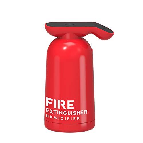 LAKYT Humidificador Extintor de Incendios Humidificador de Aire USB Mistal Fabricante Fogger 180ml Agua fría Difusor del Aroma para el purificador de Aire del Coche del hogar Ambientador Casa