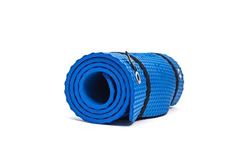 Bootymats - Colchoneta Fitness Multifunción para Todo Tipo de Entrenamiento: Fitness, Pilates, Abdominales, Estiramientos. Medidas: 160 x 60 cm. Grosor: 9 mm. Azul