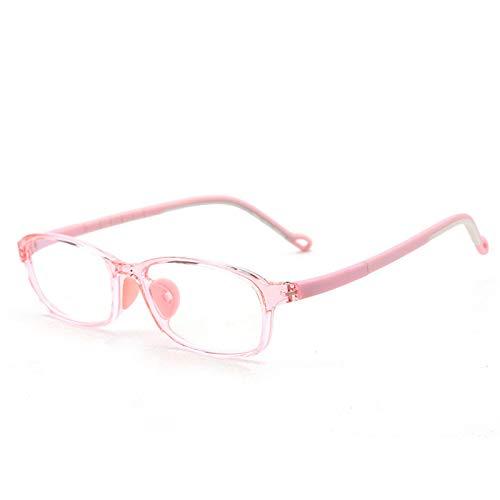 Spielbrille Anti-Strahlungs-Brille mit transparenter Linse für Kinder,Anti-Blaulicht blockierende Computer-Lese Blaulichtfilter Gläserfür Computer,TV (Alter3-12 Jahre)