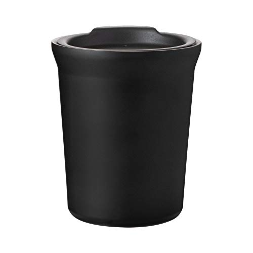 Hot or Cold - 8 oz. Double Wall Stainless Steel Copper Vacuum Insulated Car Cupholder Fit Tumbler with Lid - Matte Black