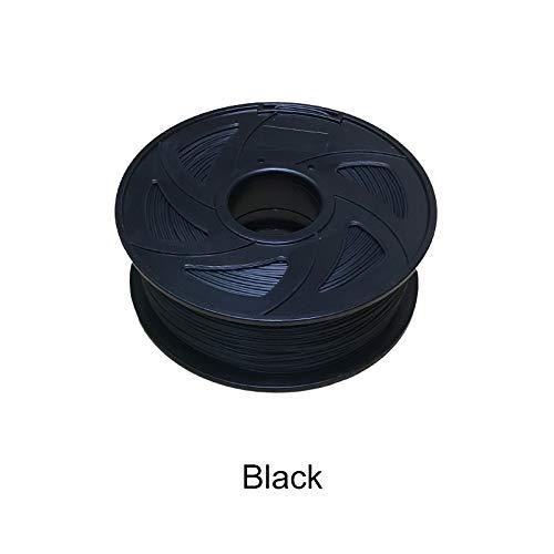 Without brand XXF-dyhc, Filament des Drucker-3D 1.75 1KG PLA Plastikgummi-Verbrauchsmaterial-Material 22 Artenfarben (Farbe : Schwarz)