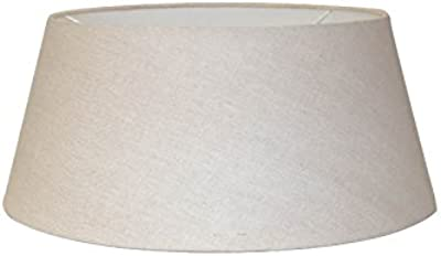 White Linen Drum Lamp Shade 10x12x8 Spider Brentwood