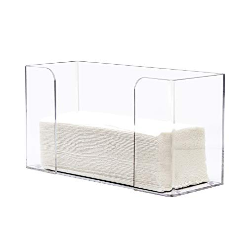 Commercial Paper Towels Holder DYCacrlic Clear Acrylic Paper Towel Dispenser Holder fit for C-foldtri-fold and Multi-fold Commercial Paper Towels