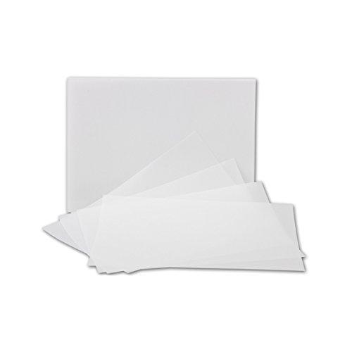 50x ungefalztes einfaches Einlege-Papier für DIN A5 Karten - transparent-weiß - 146 x 208 mm - ideal zum Bedrucken mit Tinte und Laser - hochwertig Mattes Papier von Gustav NEUSER®