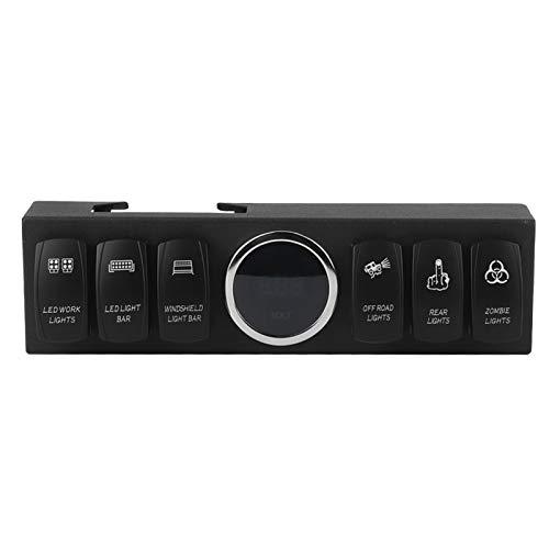 Bediffer Interruptores Panel Negro 12V Autopartes para JK 2-Door/Unlimited 4-Door