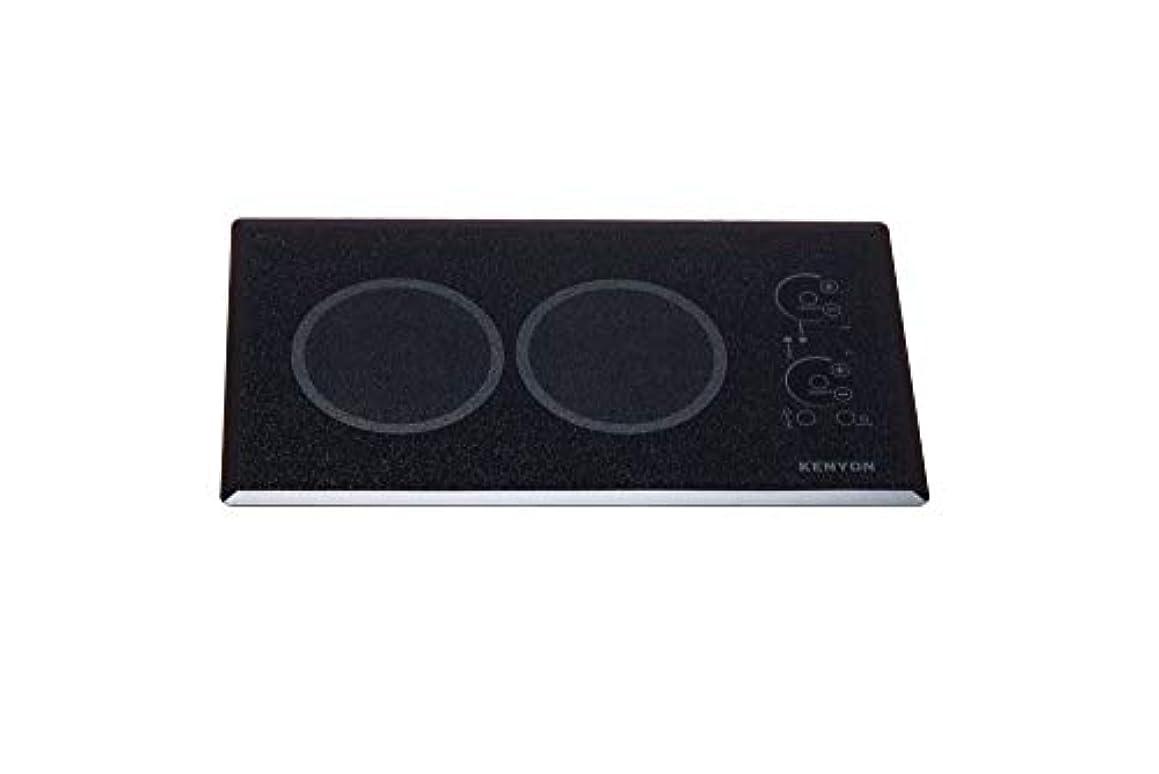 Kenyon B41575L 6-1/2-Inch Lite-Touch Q 2-Burner Trimline Cooktop with Landscape Touch Control, 120-volt, Black