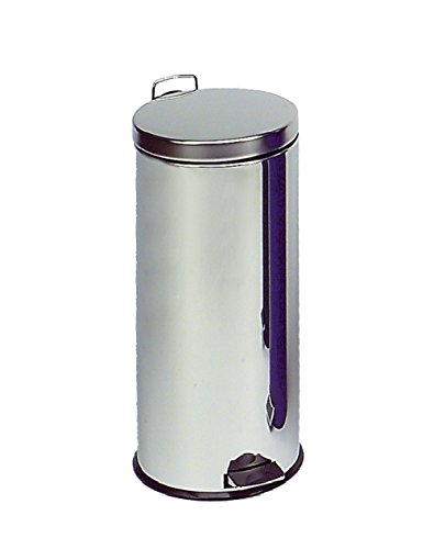 in Acciaio Inox 30L Wesco Colore: A Scelta Bianco Pattumiera Tonda a Pedale