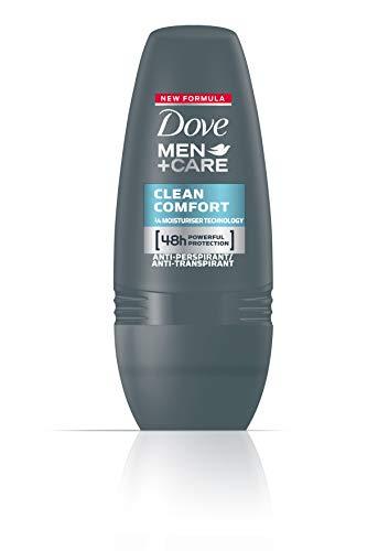 Dove Men+Care - Deodorante Roll-On Clean Comfort, 3 pz. (3 x 50 ml)