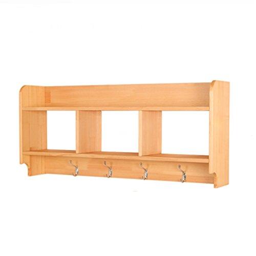 LSLS Estantes flotantes de Madera Maciza Montado en la Pared Rack Sala de Estar Dormitorio Bookshelf Almacenamiento de Pared Rack de Almacenamiento (80x41x19cm) estantería de Pared