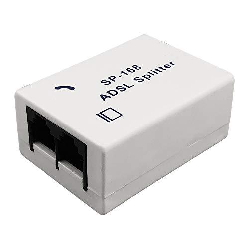 Techgadget ADSL Splitter/ADSL Filter/DSL Filter RJ11 for Landline Telephone and Broadband Modem Box (N-1228)