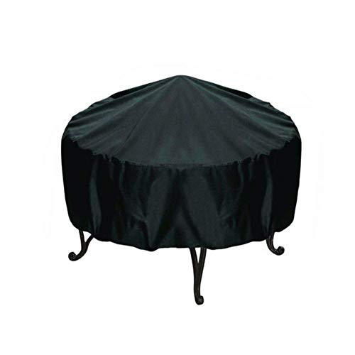 DJLOOKK Fire Pit Cover, Waterproof BBQ Cover Grill Cover Anti Dust Rain Gas Charcoal Electric Barbeque Grill Barbecue Supplies Accessories,120 * 75cm