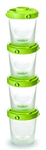 Nuvita Lot de 4 Contenants de Lait/Aliments Transparent 200 ml