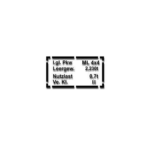 Aufkleber Typenschild Passend für Mercedes Benz W163 Aufkleber 20x10cm #A4791
