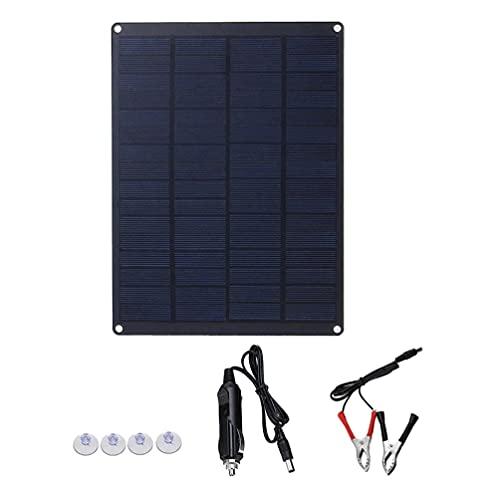 VICASKY 10W 12V Panel Solar Goteo Cargador Batería Mantenimiento para Coche RV Barco Marino Fuera de Red