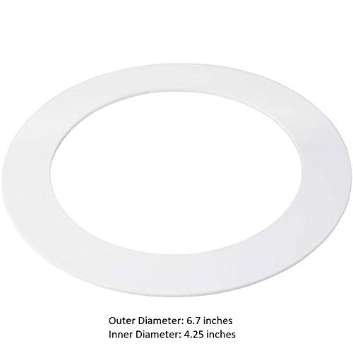 10 Pack White Goof/Trim Ring for 4 inch Recessed Can Down Light