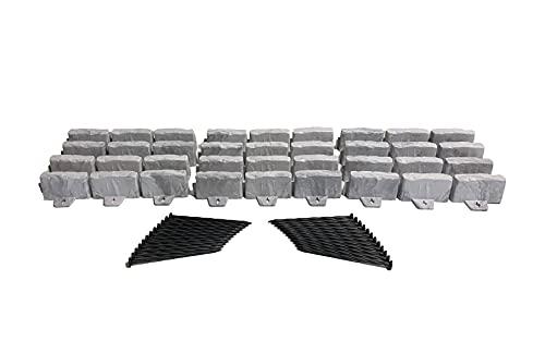 Dimex 3602G-15C-6 Landscape Edging, 15-Foot, Grey
