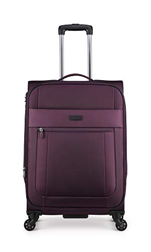 Antler Translite Exclusive Large Soft Shell Suitcase with TSA Lock, Aubergine, Size: 68 x 44 x 27