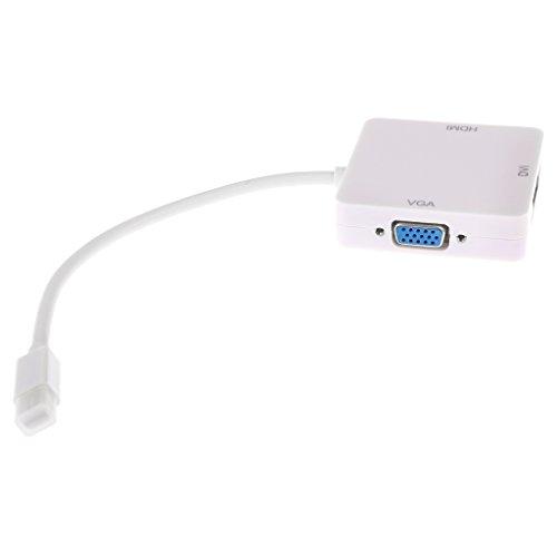 IPOTCH Cable Convertidor Adaptador 3 en 1 DP a HDMI DVI VGA...