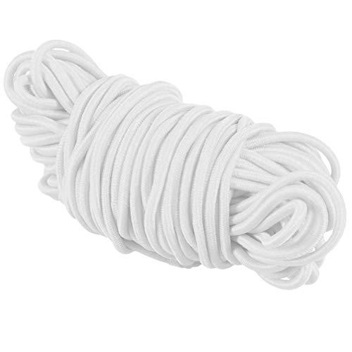 PRETYZOOM Cordón Elástico Redondo Blanco de 100 M 2. 5 Mm