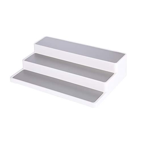 Shoze 3 Layers Shelf Jar Rack Holder Cupboard Organiser Storage Kitchen Tool Cupboard Shelf Organiser Polar White