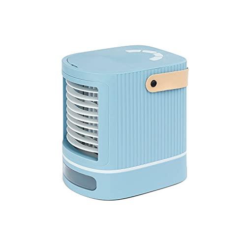 Unità di raffreddamento ad aria personale portatile, mini refrigeratore d'aria nero con tecnologia evaporativa, condizionatore d'aria compatto a basso consumo energetico (7,1''x5,9''x7,4''),Blu