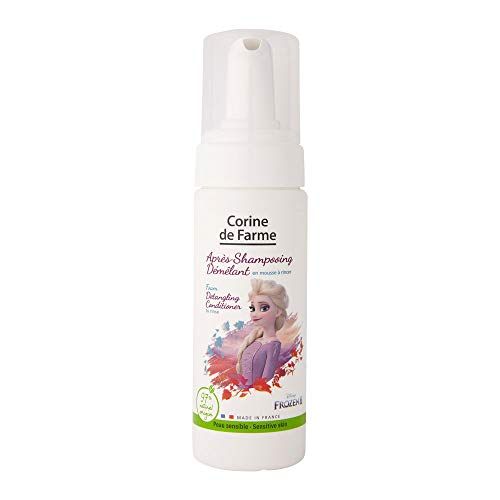 Corine de Farme Mousse Après-Shampoing Démêlant La Reine des Neiges 2 - Spray Après-Shampoing Disney pour Peaux Sensibles, ne Pique pas les Yeux - For