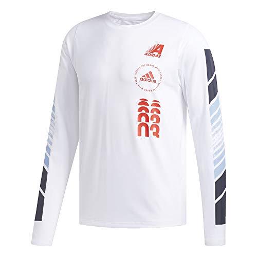 Adidas Moto Pack FreeLift Camiseta de Entrenamiento para Hombre, Freelift Moto - Playera de Manga Larga, Blanco, X-Large