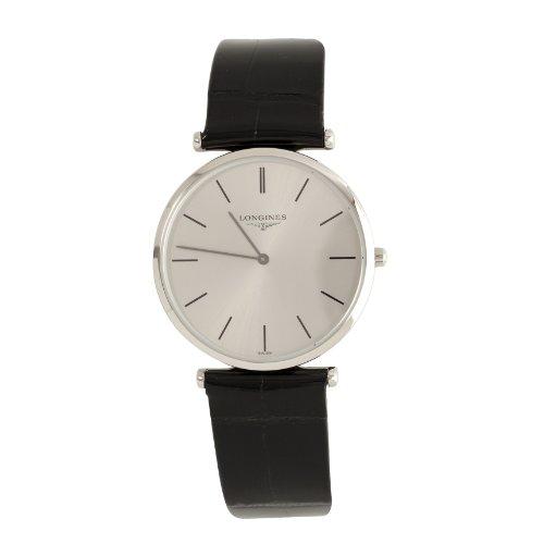 Longines Lagrande - Reloj de Cuarzo para Hombre, con Correa de Cuero, Color Negro